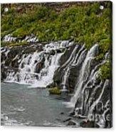 Hraunfossar Waterfall In Iceland Acrylic Print