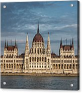 Hungarian Parliament Building Afternoon Acrylic Print