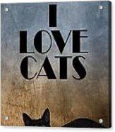 I Love Cats Acrylic Print
