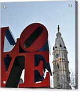 I Love Philadelphia Acrylic Print