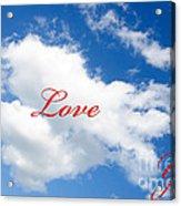 1 I Love You Heart Cloud Acrylic Print