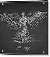 Icarus Flying Machine Patent Drawing Rear View Acrylic Print