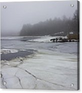 Ice And Fog And The Ipswich River Acrylic Print