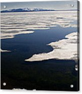 Ice On Yellowstone Lake Acrylic Print