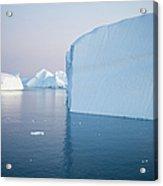 Icebergs Of Ilulissat Kangerlua Acrylic Print