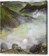 Iceland Steam Valley Acrylic Print