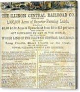 Illinois Railroad Company Acrylic Print