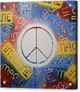 Imagine Peace Acrylic Print