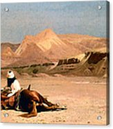 In The Desert Acrylic Print by Jean-Leon Gerome