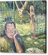 In The Garden Acrylic Print by Ellen Howell