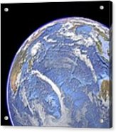 Indian Ocean, Sea Floor Topography Acrylic Print by Science Photo Library