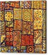 Indian Patchwork Carpet Acrylic Print