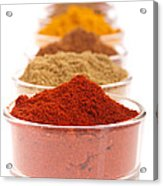 Indian Spices Acrylic Print