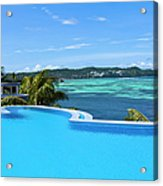 Infinity Swimming Pool Acrylic Print