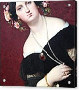 Ingres' Madame Moitessier Abstract Acrylic Print