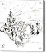 Ink Sketch Acrylic Print