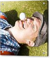 Insane Sport Nut Crazy About Golf Acrylic Print