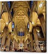 Inside St Patricks Cathedral New York City Acrylic Print