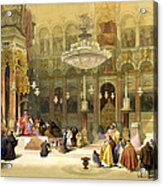 Inside The Church Of The Holy Sepulchre Acrylic Print