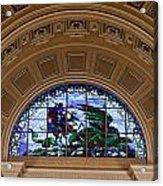 Interior Of St Georges Hall Liverpool Uk Acrylic Print