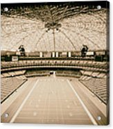 Interior Of The Old Astrodome Acrylic Print