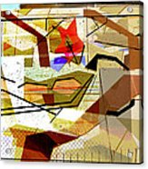Interstate 10- Exit Out West- Where Life Begins New- Rectangle Remix Acrylic Print