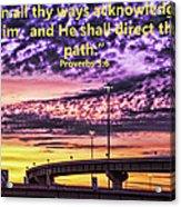 Interstate At Sunrise Acrylic Print