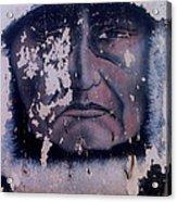 Iron Eyes Cody Homage The Big Trail 1930 The Crying Indian Black Canyon Arizona 2004 Acrylic Print
