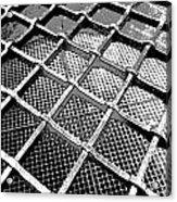Iron Protection On Mesh Covered Well Inside Edinburgh Castle Acrylic Print