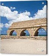 Israel Caesarea Aqueduct  Acrylic Print
