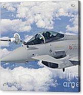 Italian Air Force Eurofighter Typhoon Acrylic Print