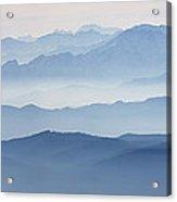 Italian Alps In The Mist Acrylic Print