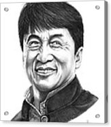 Jackie Chan Acrylic Print