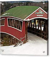 Jackson Cross Country Skiing Bridge Acrylic Print