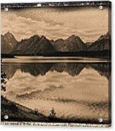 Jackson Lake Wyoming Acrylic Print