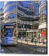 Jan Wellem Platz Duesseldorf Acrylic Print by David Davies