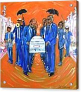 Jazz Funeral Acrylic Print by Aaron Harvey
