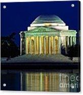 Jefferson Memorial At Night Acrylic Print