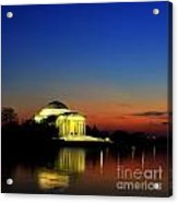 Jefferson Monument Reflection Acrylic Print