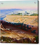 Jerusalem From The Mount Of Olives Acrylic Print