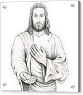 Jesus Offering His Hand Acrylic Print