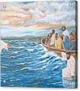 Jesus Walking On Water Acrylic Print