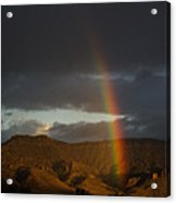 Jim Mountain Rainbow Acrylic Print