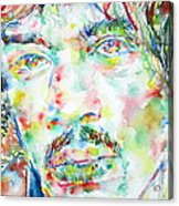 Jimi Hendrix Watercolor Portrait.1 Acrylic Print