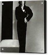 Joan Crawford Wearing A Schiaparelli Dress Acrylic Print