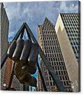 Joe Louis Fist In Detroit  Acrylic Print