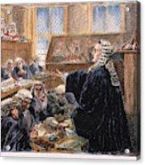 John Peter Zenger Trial Acrylic Print