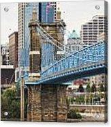 John Roebling Bridge 1867 Acrylic Print