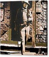John Wayne Rio Bravo Publicity Photo 1959 Old Tucson Arizona Acrylic Print