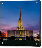 Jordan River Temple Sunset Acrylic Print